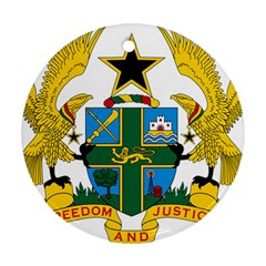 Coat of Arms of Ghana Round Ornament (Two Sides)