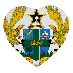 Coat of Arms of Ghana Heart Ornament (Two Sides)