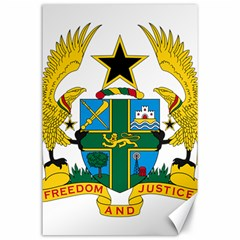 Coat of Arms of Ghana Canvas 24  x 36