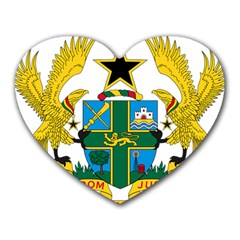 Coat of Arms of Ghana Heart Mousepads
