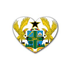 Coat of Arms of Ghana Rubber Coaster (Heart)