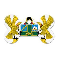 Coat of Arms of Ghana Dog Tag Bone (One Side)