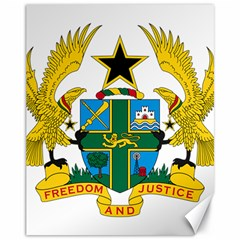 Coat of Arms of Ghana Canvas 11  x 14