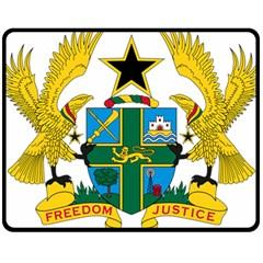 Coat of Arms of Ghana Fleece Blanket (Medium)