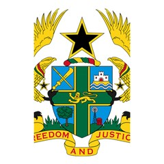 Coat of Arms of Ghana Shower Curtain 48  x 72  (Small)