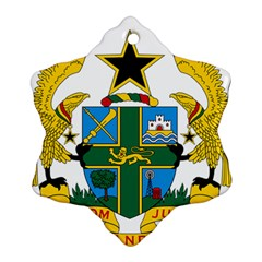 Coat of Arms of Ghana Snowflake Ornament (Two Sides)