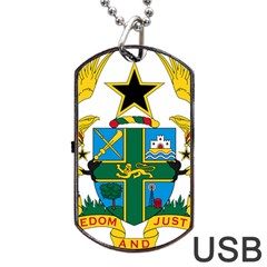 Coat of Arms of Ghana Dog Tag USB Flash (One Side)