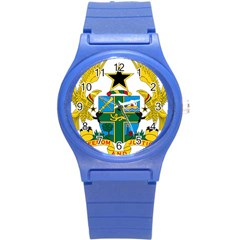 Coat of Arms of Ghana Round Plastic Sport Watch (S)