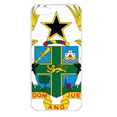 Coat of Arms of Ghana Apple iPhone 5 Seamless Case (White)