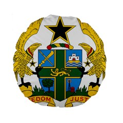 Coat of Arms of Ghana Standard 15  Premium Round Cushions