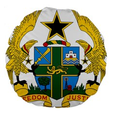 Coat of Arms of Ghana Large 18  Premium Round Cushions