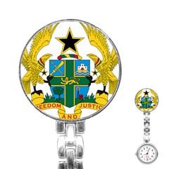 Coat of Arms of Ghana Stainless Steel Nurses Watch