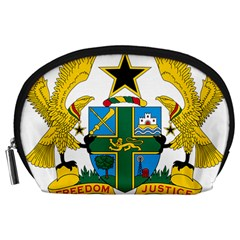 Coat of Arms of Ghana Accessory Pouches (Large)
