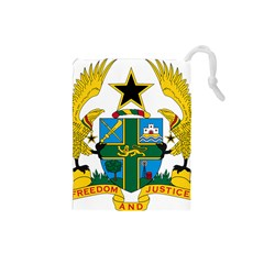 Coat of Arms of Ghana Drawstring Pouches (Small)