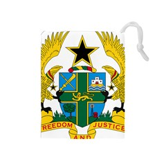 Coat of Arms of Ghana Drawstring Pouches (Medium)