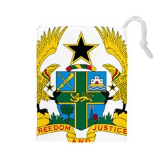 Coat of Arms of Ghana Drawstring Pouches (Large)