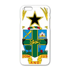 Coat of Arms of Ghana Apple iPhone 6/6S White Enamel Case