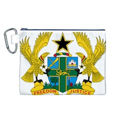Coat of Arms of Ghana Canvas Cosmetic Bag (L)