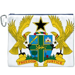 Coat of Arms of Ghana Canvas Cosmetic Bag (XXXL)