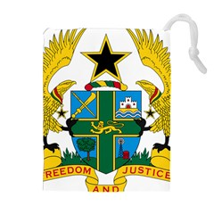 Coat of Arms of Ghana Drawstring Pouches (Extra Large)