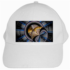 Fractal Tech Disc Background White Cap