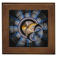 Fractal Tech Disc Background Framed Tiles
