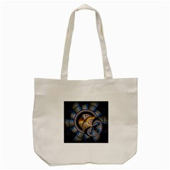 Fractal Tech Disc Background Tote Bag (cream)