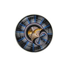 Fractal Tech Disc Background Hat Clip Ball Marker