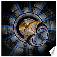 Fractal Tech Disc Background Canvas 12  X 12