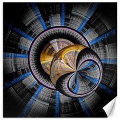 Fractal Tech Disc Background Canvas 16  x 16