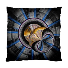 Fractal Tech Disc Background Standard Cushion Case (Two Sides)