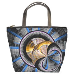 Fractal Tech Disc Background Bucket Bags