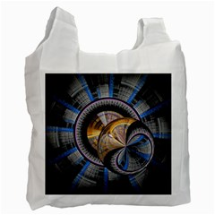 Fractal Tech Disc Background Recycle Bag (One Side)