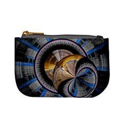 Fractal Tech Disc Background Mini Coin Purses