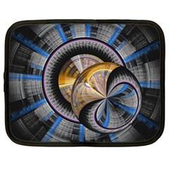 Fractal Tech Disc Background Netbook Case (XL)