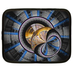 Fractal Tech Disc Background Netbook Case (XXL)