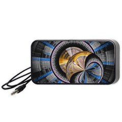 Fractal Tech Disc Background Portable Speaker (Black)