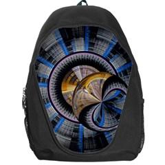 Fractal Tech Disc Background Backpack Bag