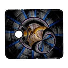 Fractal Tech Disc Background Galaxy S3 (Flip/Folio)