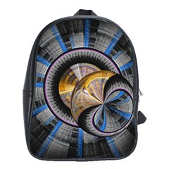 Fractal Tech Disc Background School Bags (XL)