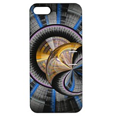 Fractal Tech Disc Background Apple iPhone 5 Hardshell Case with Stand