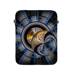 Fractal Tech Disc Background Apple iPad 2/3/4 Protective Soft Cases