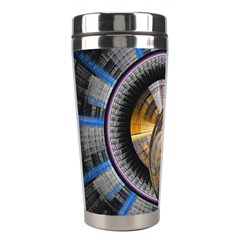 Fractal Tech Disc Background Stainless Steel Travel Tumblers