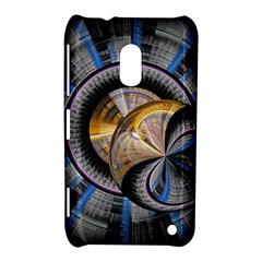 Fractal Tech Disc Background Nokia Lumia 620