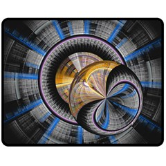 Fractal Tech Disc Background Double Sided Fleece Blanket (Medium)