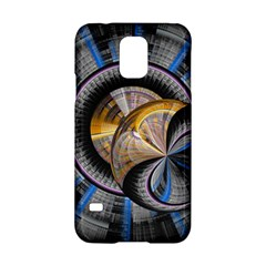 Fractal Tech Disc Background Samsung Galaxy S5 Hardshell Case