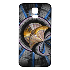 Fractal Tech Disc Background Samsung Galaxy S5 Back Case (White)