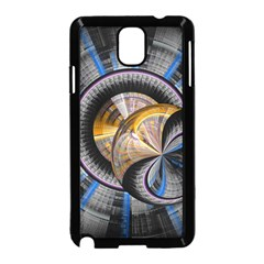 Fractal Tech Disc Background Samsung Galaxy Note 3 Neo Hardshell Case (Black)