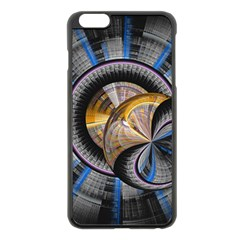 Fractal Tech Disc Background Apple iPhone 6 Plus/6S Plus Black Enamel Case