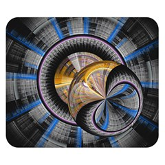 Fractal Tech Disc Background Double Sided Flano Blanket (Small)